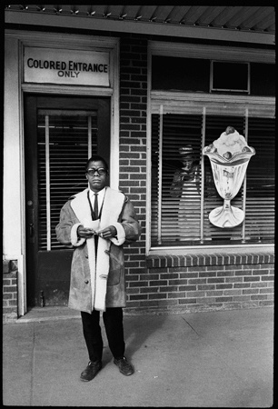 James Baldwin, Colored Only Entrance, New Orleans, 1963, by Steve Schapiro