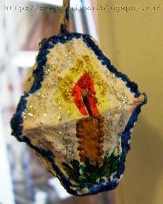 Крепальница -  своими руками: Ёлочные украшения из лотков от яиц - рукоделие с д...