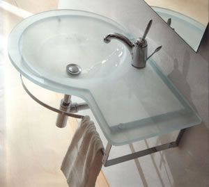 Open Kristallux Single Glass Sink