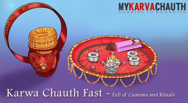 Karwa Chauth Fast – Full of Customs and Rituals 2016 @ http://bit.ly/2dgN1o8  #Karva #Chauth #Fast #Fast_rules #udyapan
