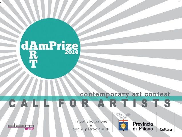 """Locandina. Concorso di arte contemporanea """"DAMprize 2014"""", 26 marzo - 6 aprile 2014, Spazio Oberdan, Milano. http://www.provincia.milano.it/cultura/manifestazioni/oberdan/dam_prize_2014/index.html"""