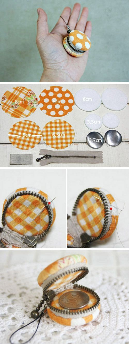 How to make a macaron coin purse. Diy Purses tutorial, Gifts Ideas, Macaroons.  http://www.handmadiya.com/2015/11/diy-macaron-coin-purse.html