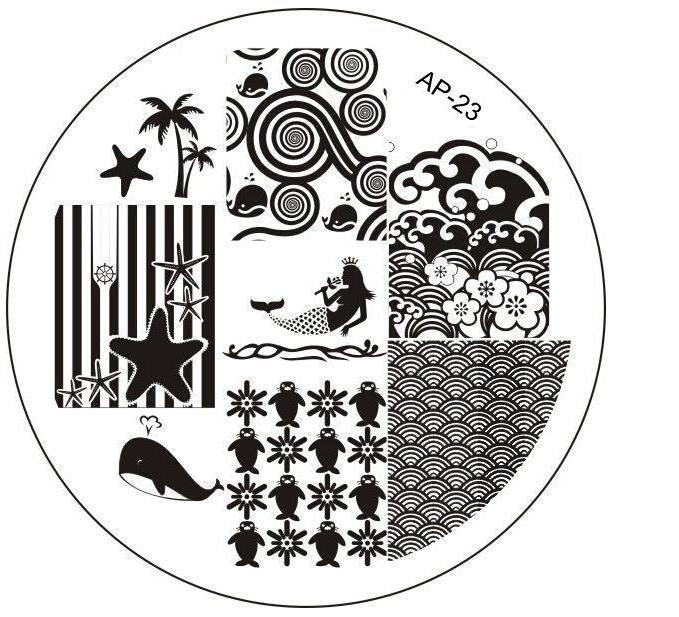 АП-23 Моды DIY Для Ногтей Красоты Nail Art Image Stamp Штамповка Плиты 3D Nail Art Шаблоны Трафаретов Маникюр Инструменты