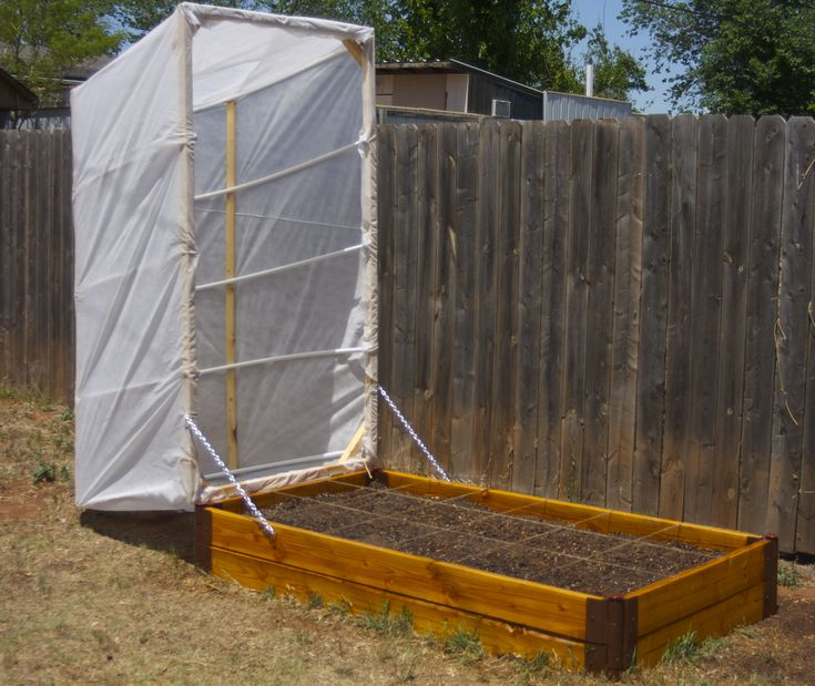 DIY Raised Bed Vegetable Garden With Greenhouse Cover