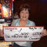 Congratulations to Linda from Texas––on August 16 she won $6,000 playing a Ringmaster slot game!