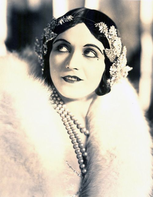 Poilsh actress Pola Negri who achieved worldwide fame during the silent and golden age of American and European film for her femme fatale roles.
