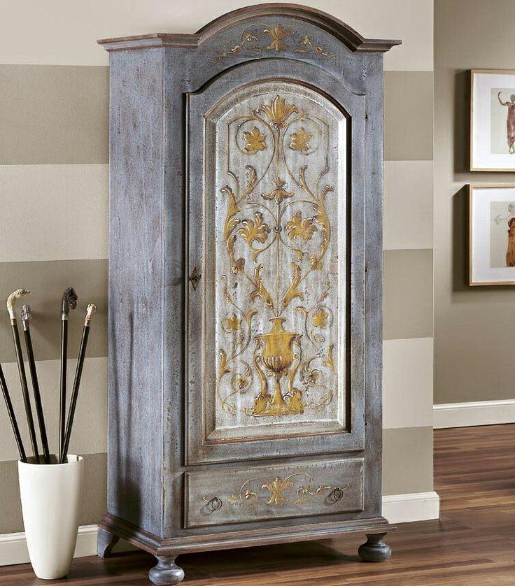 Dulap pictat din lemn masiv de plop   Hand Painted Wardrobe Catalog Zanini