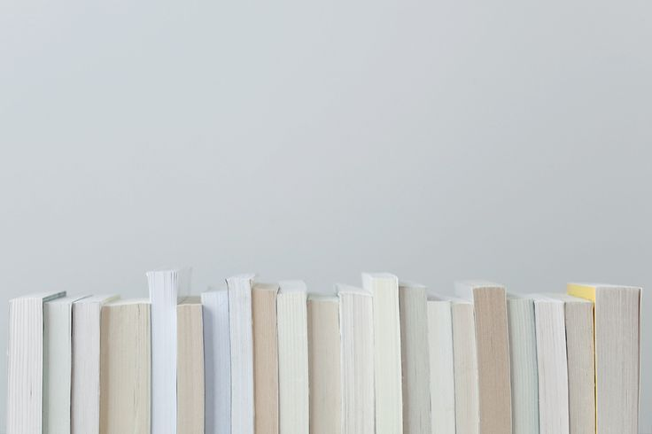 books - photograph - soft natural tones