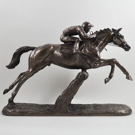The Hurdler Cold Cast Bronze Sculpture - £115