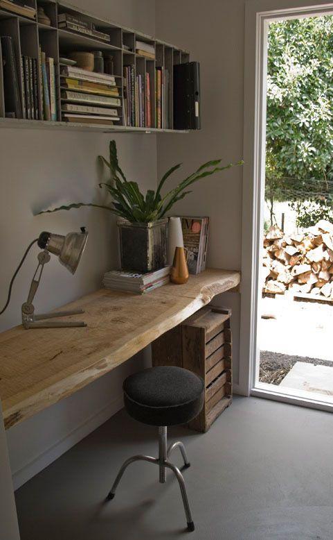 Me encantaría una encimera así para el baño Muebles de tronco para un ambiente rústico