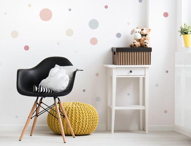 Awesome  Kinderzimmer Wandsticker Set ueFarbige Kreise in zarten Pastellt nen uc St ck Mit unseren
