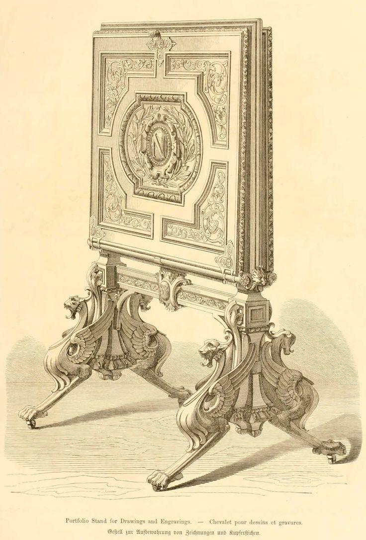 img/dessins meubles mobilier/chevalet pour dessins et gravures.jpg