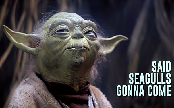 Yoda sings about seagull attacks in 'Star Wars: The Empire Strikes Back' Bad Lip Reading video