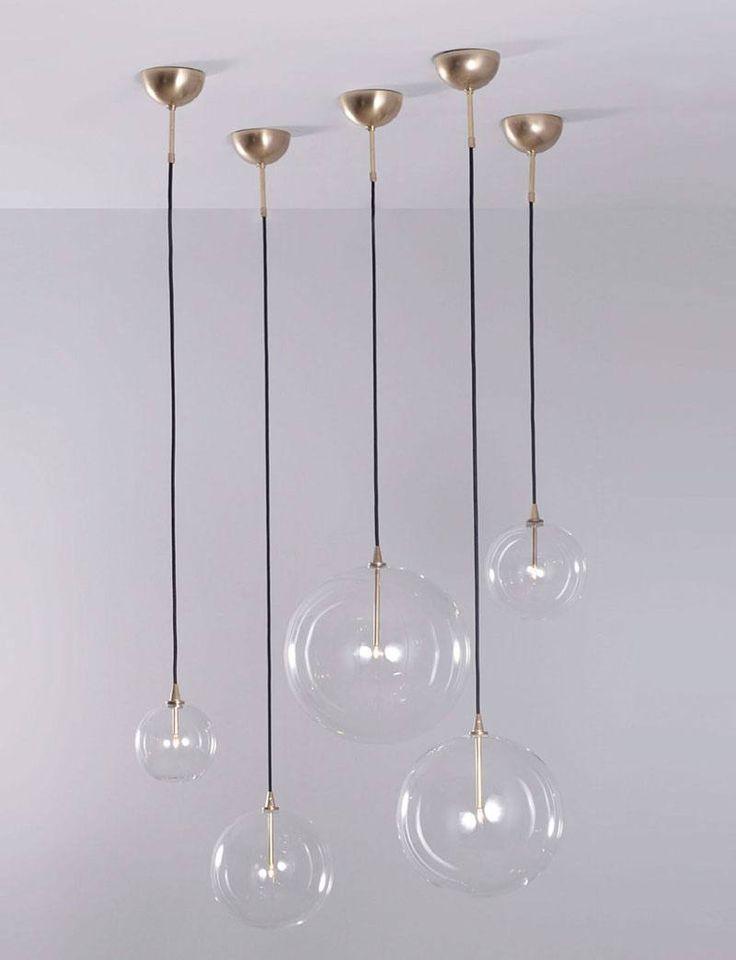Hanglamp met glasbollen