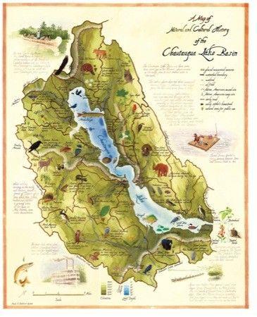 Lake chautauqua fishing map welcome to chautauqua lake for Chautauqua lake fishing report