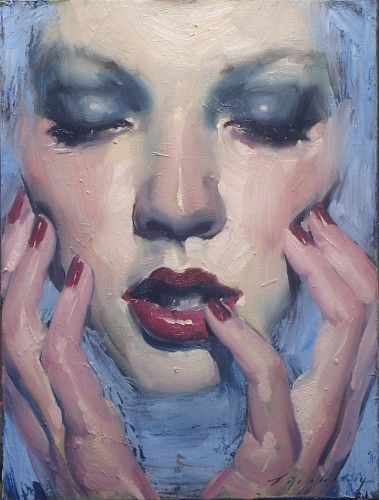 Malcolm Liepke, Sea of Blue 2014, oil on canvas