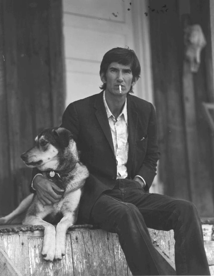 #music Rare photo of Townes Van Zandt beatin' his meat while restraining frightened dog