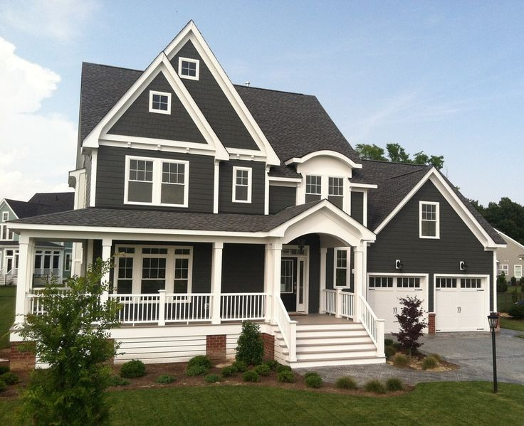 Beautiful traditional home with wrap around front porch.  #homes #homeexteriors homechanneltv.com