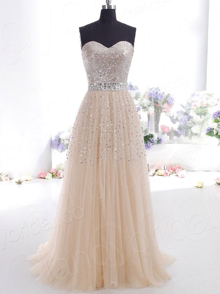 sweetheart champagne dress...