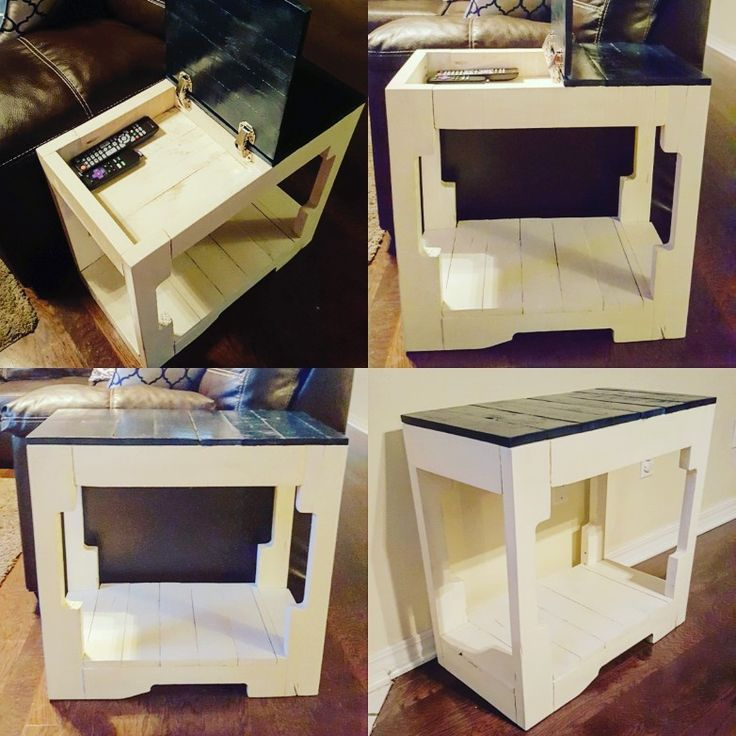 Pallet Coffee Table With Hidden Storage: Best 25+ Pallet Side Table Ideas On Pinterest