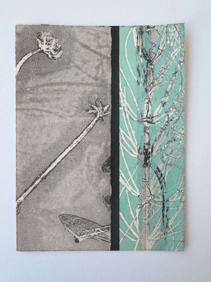 Small hand printed original botanical print by Stef Mitchell
