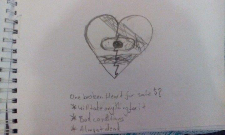 Broken heart for sale $