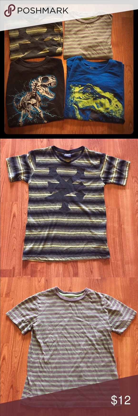 Bundle of Four Boys Shirts Four boys t-shirts.  Zoo York shirt in first pic has some pilling.  All others in great used condition. Smoke free home. Shirts & Tops