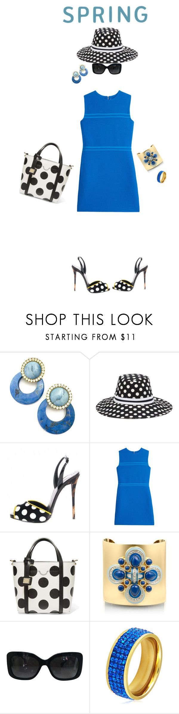 """SPRING ... Polka-Dots Trend !!"" by fashiongirl-26 ❤ liked on Polyvore featuring Dolce&Gabbana, Victoria, Victoria Beckham, Tory Burch, Chanel and West Coast Jewelry"