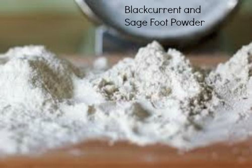 Blackcurrent and Sage Foot Powder #homemadebeauty - Pampered Mummy