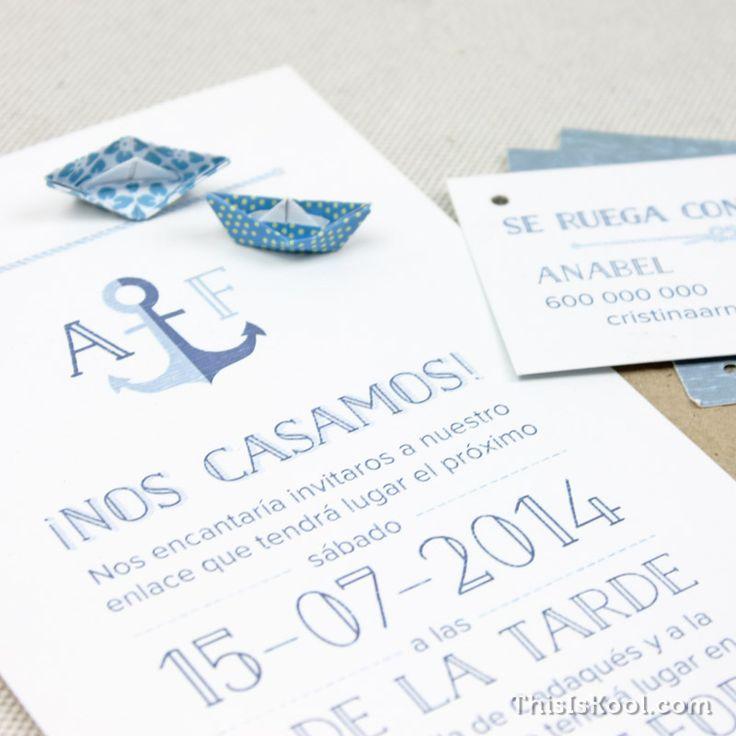 Invitación boda - MARINERA | This Is Kool © | www.thisiskool.com