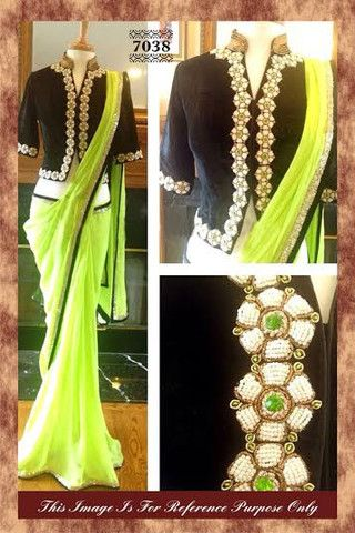 Neon#Green #designer #bollywoodsaree | Veeshack Shop