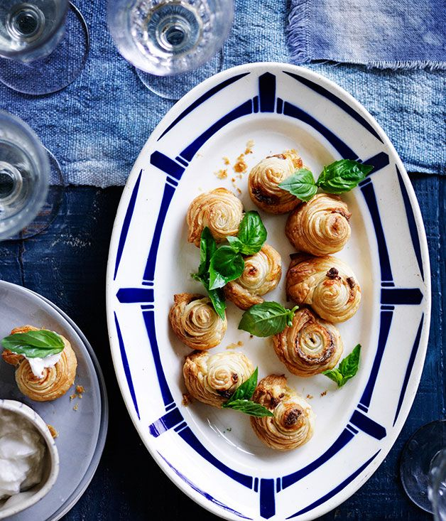 Australian Gourmet Traveller recipe for anchovy puffs.