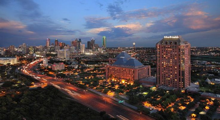 Hilton Anatole Dallas Situated on 45 acres and just 3 minutes' drive from the Dallas Convention Center, this Central Dallas luxury hotel boasts 5 restaurants and an on-site spa and wellness centre. Free Wi-Fi is included.