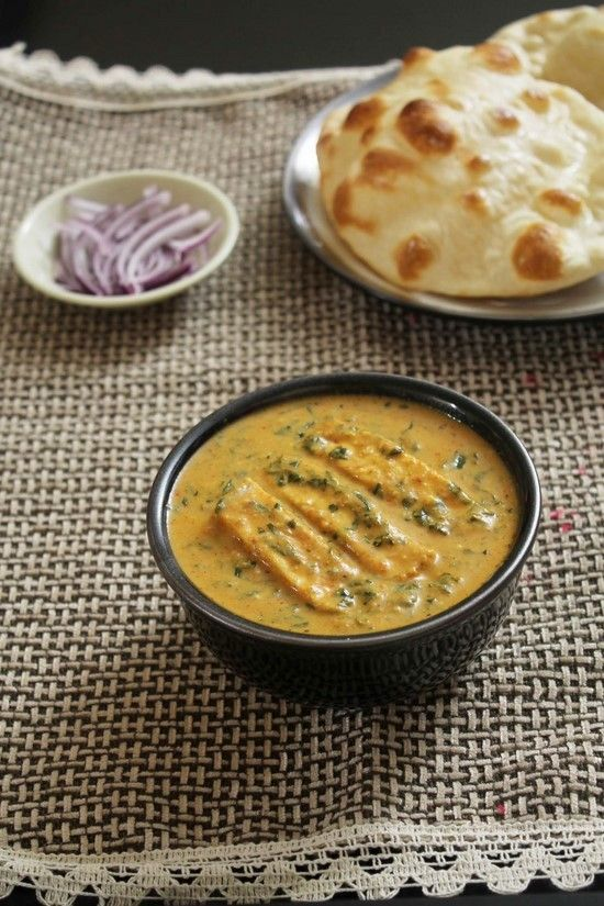 Methi Malai Paneer Recipe with step by step photos- Soft paneer pieces and fenugreek leaves are simmered in medium spicy, rich, creamy gravy