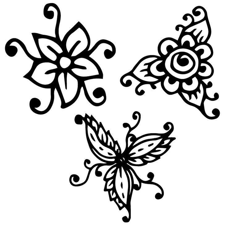 Henna Design Temporary Tattoos #635