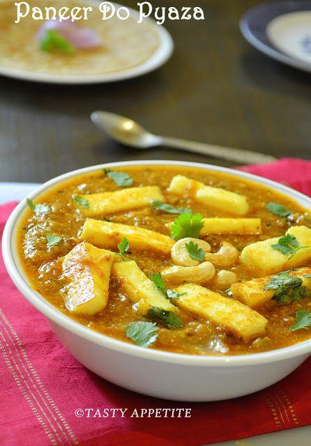 Tasty Appetite: How to make Paneer Do Pyaza / ( Gravy ) / Restaurant Style Recipe / Tasty Paneer Recipes: