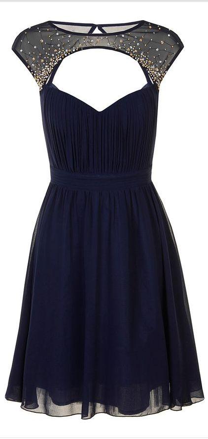 embellished cap sleeve dress