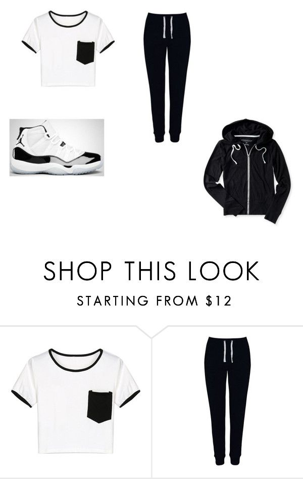 """""""jordan 11 concord"""" by tomboy15 ❤ liked on Polyvore featuring WithChic, George and Aéropostale"""