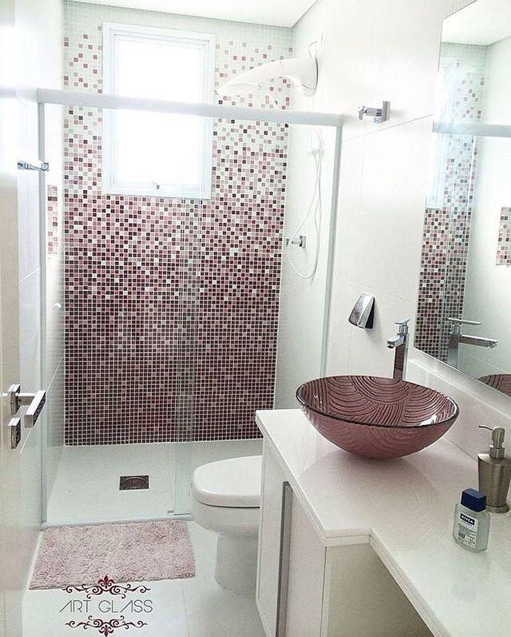 "Tendência Arquitetura en Instagram: ""Banheiro super trend ..."