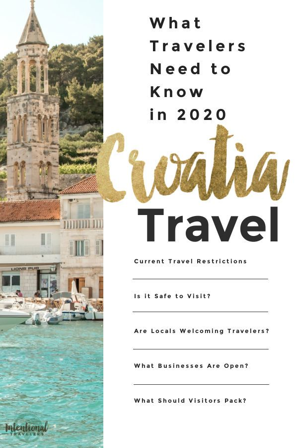Croatia Travel Restrictions Winter 2020 What Travelers Need To Know Intentional Travelers In 2020 Croatia Travel Europe Trip Itinerary Travel