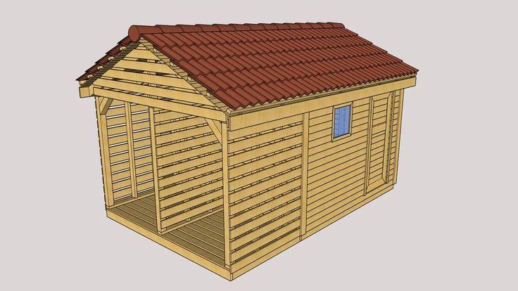 domek narzędziowy z drewutnią 4,5 na 3 m