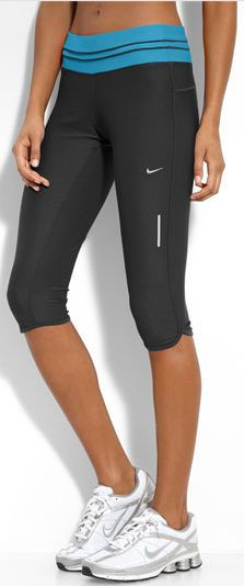 Fitness bottoms: Nike Low Rise Crop Capri- great for running, yoga, etc. (If only I could look like this when I wear them)