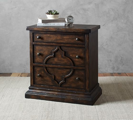 Lorraine Wood Nightstand Dark Wood Living Room Living