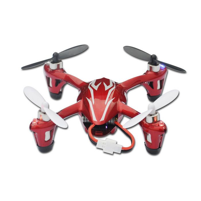 Hubsan X4 H107C 2.4G 4-CH R/C Quadcopter w/ 2.0MP Camera - Red+Silver - Free Shipping - DealExtreme