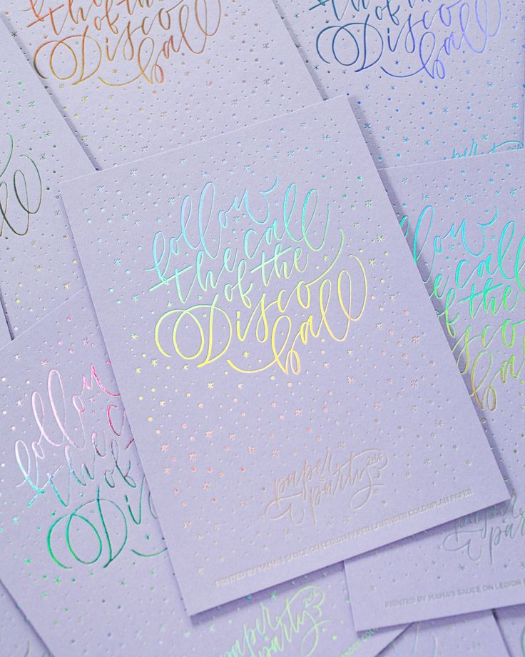 Paper Party 2016 Art Print / Design by Ashley Buzzy Lettering & Press, Printed by Mama's Sauce on Lavender Color Plan paper from Legion Paper / Oh So Beautiful Paper