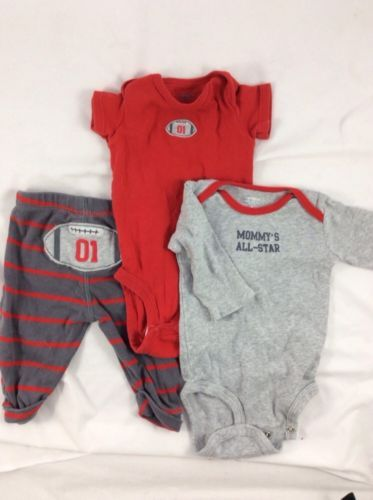 carters baby boy clothes set preowned football set. great condition! buy now!