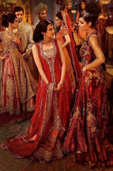 South Asian Wedding. Love the Red dresses