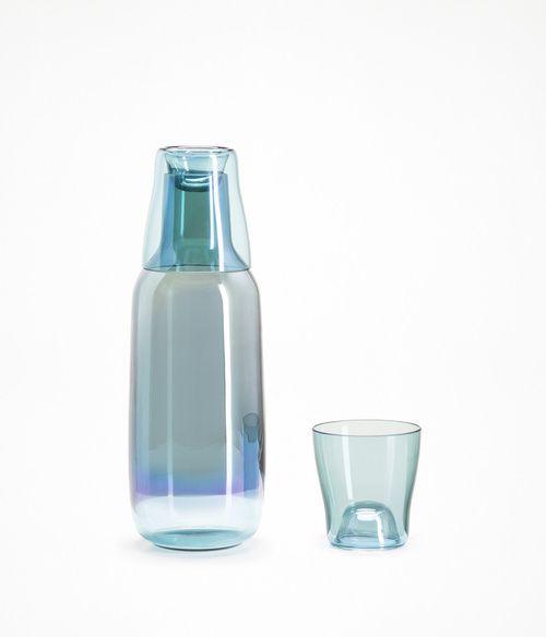 Scholten & Baijings's Iris carafe and tumbler for Verreum