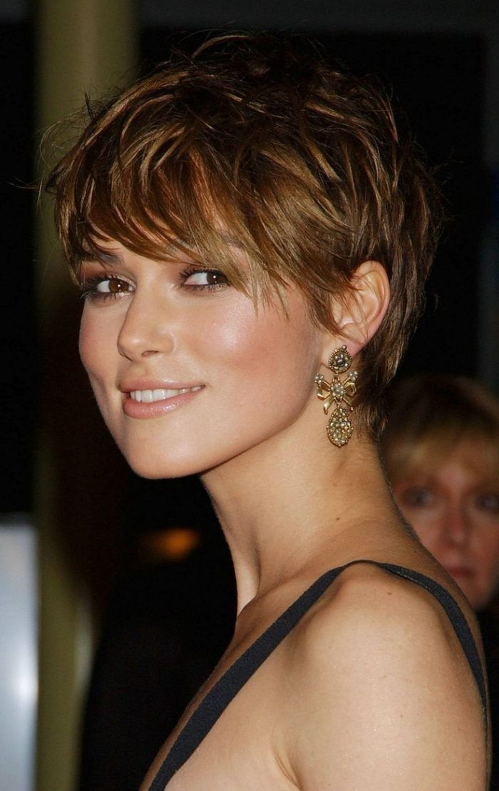 short pixie hairstyle cut into flats with se …