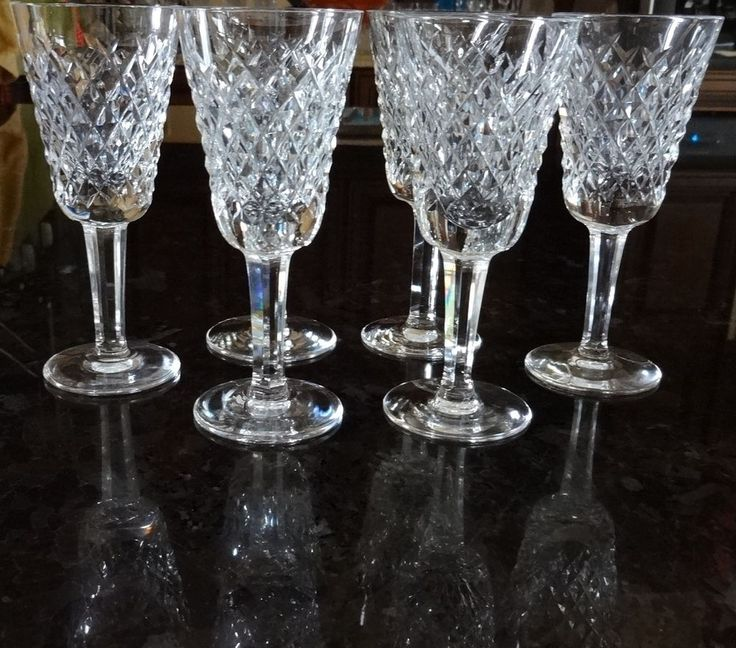 vintage waterford crystal alana set 6 sherry wine glasses 5 - Waterford Crystal Wine Glasses